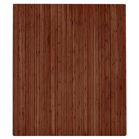 Bamboo Chair Mats by Anji Mountain Walnut 42 In X 48 In Bamboo Roll Up Chair Mat With No Lip Amb24050 The Home Depot