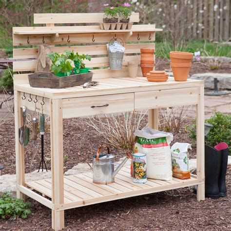 cypress potting bench coral coast maymont wood potting bench potting benches at hayneedle