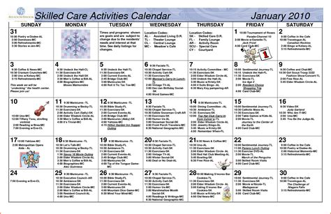 monthly activity calendar 2015 autos post