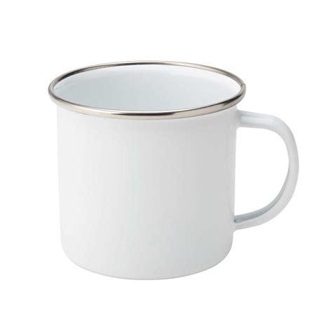 Porcelain Coffee Mugs utopia white enamel mug 380ml