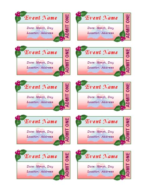 avery business card template 8876 templates certificates event tickets 10 per sheet