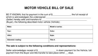 motor vehicle bill of sale template used vehicle for sale driverlayer search engine