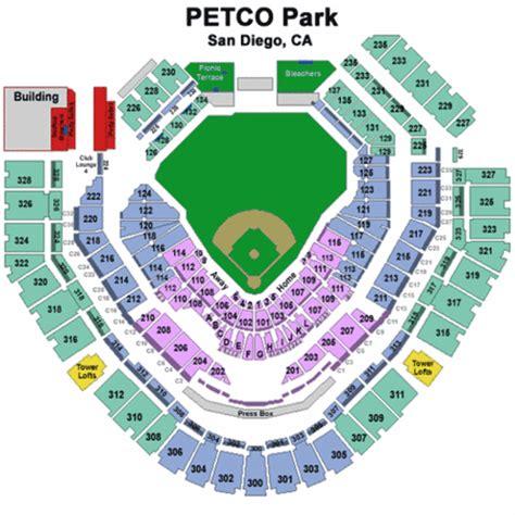 petco park seating chart petco park tickets petco park maps