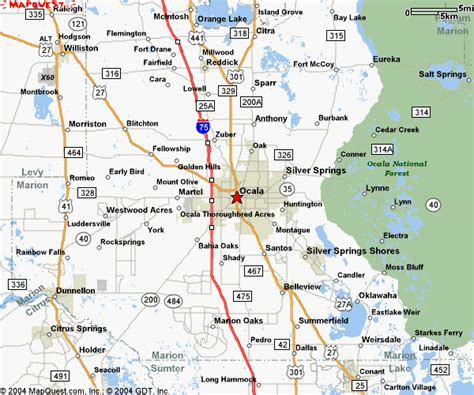 central florida city map ocala florida