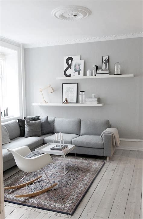 Living Room And Gray Decordots Interior Inspiration Grey Walls