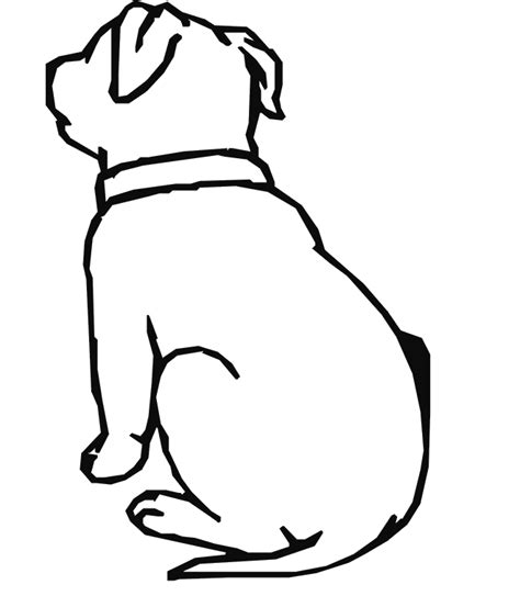 simple dog coloring page free a simple dog coloring pages