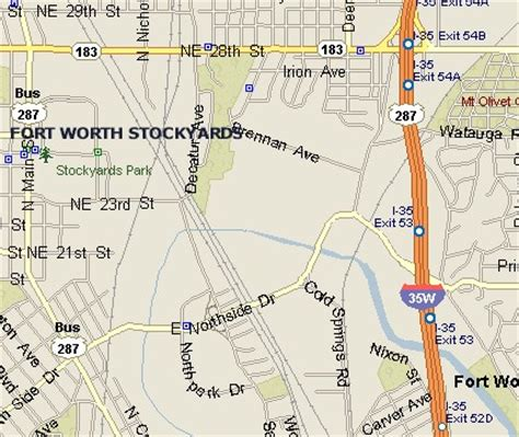 map of downtown fort worth texas fort worth stockyards map