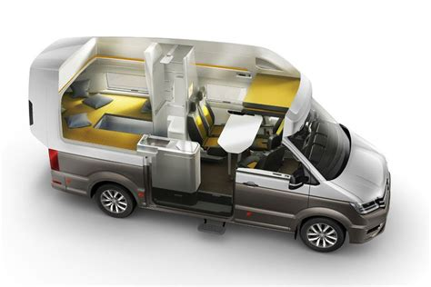 Spice Rack With Drawers Vw Concept Van Ultimate Camper Unveiled At German