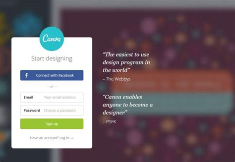 Canva Login Page | canva tutorial create a slick infographic in 15 minutes