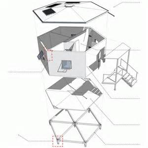 Hexagon House Plans by Architects For Society Designs Low Cost Hexagonal Shelters