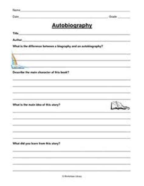 biography lesson plans 3rd grade autobiography 2nd 3rd grade worksheet lesson planet