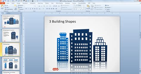 free microsoft templates download free office building shapes for powerpoint free