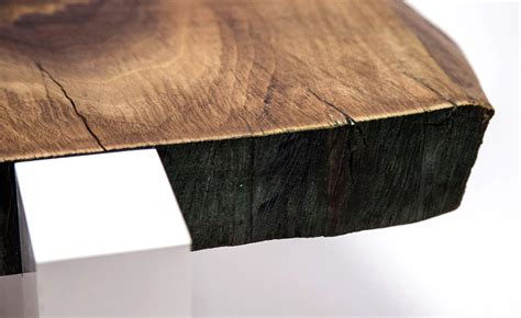 Sentient Furniture by American Black Walnut Live Edge Coffee Table Sentient Furniture New York 3