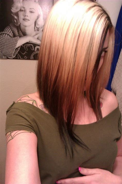 Hairstyle Reverse Highlight | gray roots dark hair highlights hairstylegalleries com
