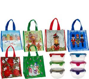 lock lock 6 piece bowl set w 6 holiday gift bags