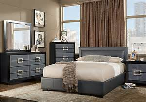city view gray 5 pc bedroom bedroom sets