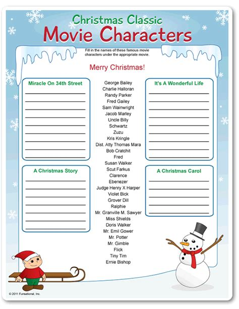 printable christmas personality quizzes printable christmas classic movie characters funsational