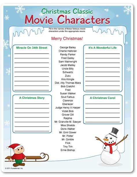 printable christmas personality quiz printable christmas classic movie characters funsational