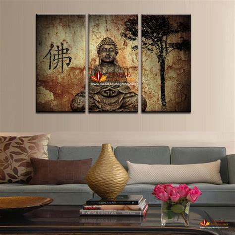 buddha paintings for living room 2017 sell 3 panel large buddha painting canvas wall set modern home decorative pictures
