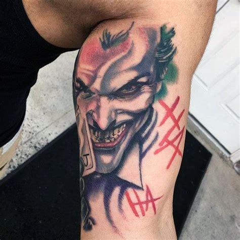 cool batman tattoos cool inner bicep joker batman tattoos for guys tattoos