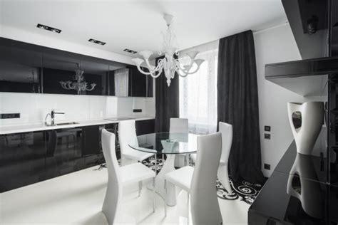 diseno de moderno apartamento en color blanco  negro