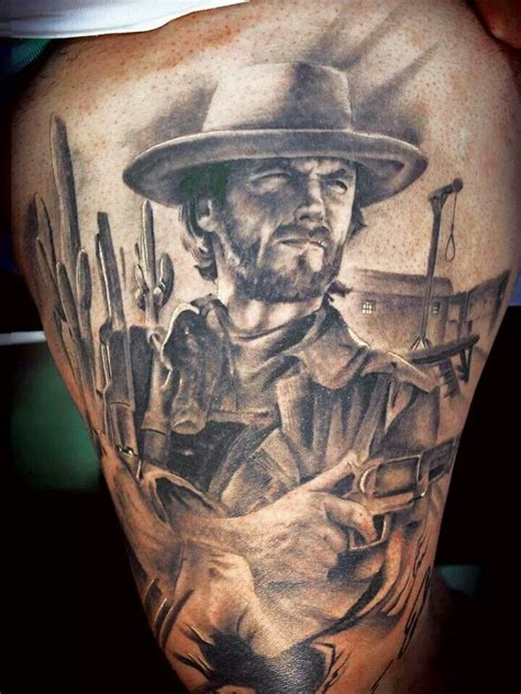 clint eastwood tattoo this clint eastwood portrait by miguel