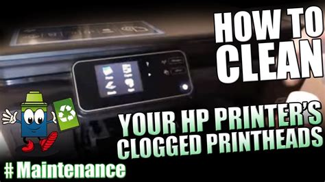 clean  hp printers clogged printheads youtube
