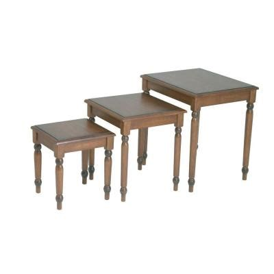 knob hill tall side table antique cherry walmart com ospdesigns knob hill nesting table in antique cherry set