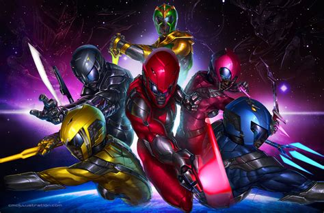 painting power rangers power rangers neon by aioras on deviantart