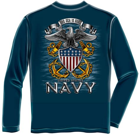 navy quot the sea is ours quot sleeve t shirt