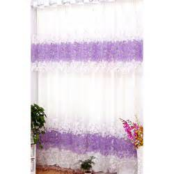 Purple And White Curtains Purple Color White Fabric Room Darkening Style Window Curtains