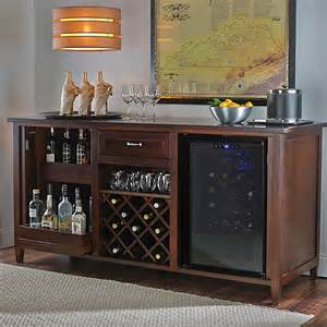 Refrigerated Wine Credenza Firenze Wine And Spirits Credenza With 28 Bottle