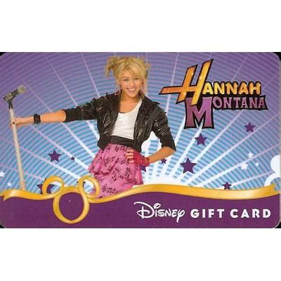 Montana S Gift Card - your wdw store disney collectible gift card hannah montana rock the stage