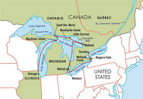 map of united states and great lakes the majestic great lakes the ohio state