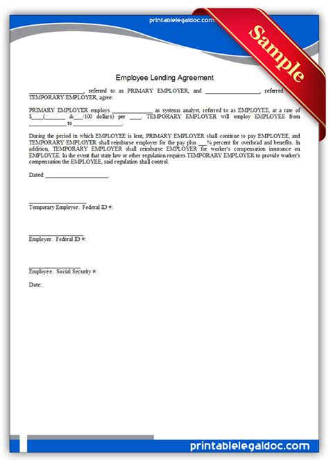 salary reduction agreement template 10 best images of employee pay agreement money loan