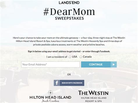 Lands End Sweepstakes - landsend com dearmom lands end dearmom sweepstakes sweepstakes pit
