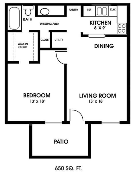 1 bedroom floor plans best 25 one bedroom apartments ideas on one