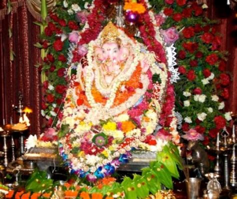 pooja decoration with fresh flower ganpati pooja durga