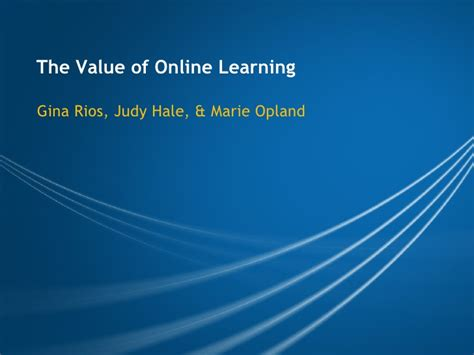Value Of Distance Mba by Value Of Learning