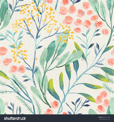 pattern stock photo free seamless hand illustrated floral pattern on paper texture