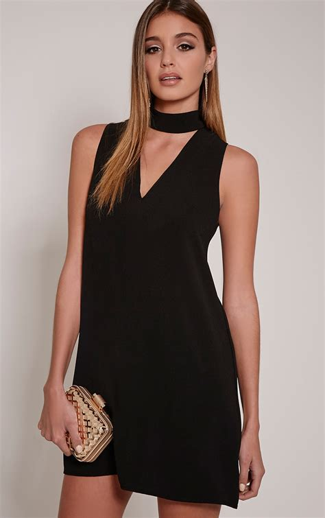Wst 17567 Black Flower Shirt Dress black dresses black tie dress lace sequin