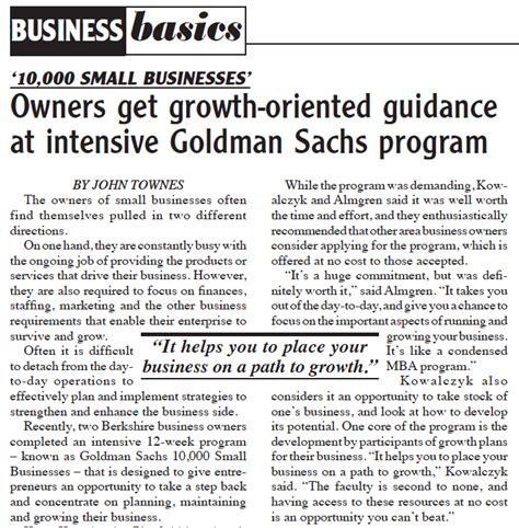 Goldman Sachs Small Business Mba Program by Sandler Completes Goldman Sachs 10 000 Small