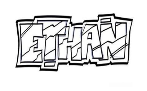lettering sketch tutorial drawing graffiti letters ethan tutorial step 4 550x342 jpg