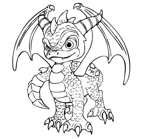 skylanders dragons coloring pages printable skylander pichers coloring page of a goomba