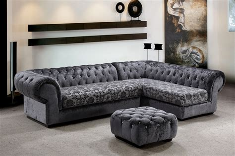 Sectional Sofa Decor Metropolitan Fabric Sectional Sofa Ottoman With Crystals Fabulous Living Room Decor In One