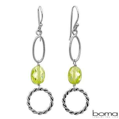 Boma Sterling Silver Fern Earrings boma brand new earrings with 5 70ctw cubic zirconia in 925