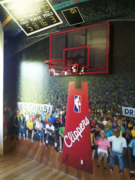 son bedroom chris paul has staples center mural painted in son s