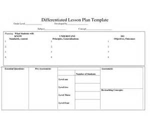 differentiation lesson plan template differentiatedlearning just another site