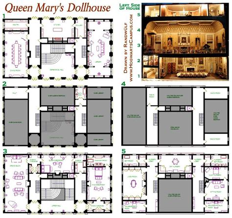 queen mary floor plan queen mary s dollhouse floor plan pillars of