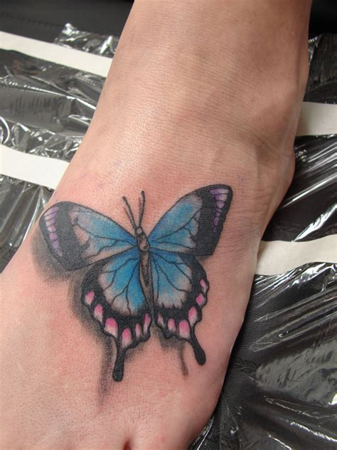 butterfly foot tattoos mildred baena butterfly tattoos for